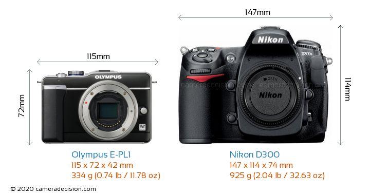 Nikon D5600 versus Olympus E-P1