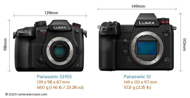 Panasonic GH5S vs Panasonic S1 Camera Size Comparison - Front View