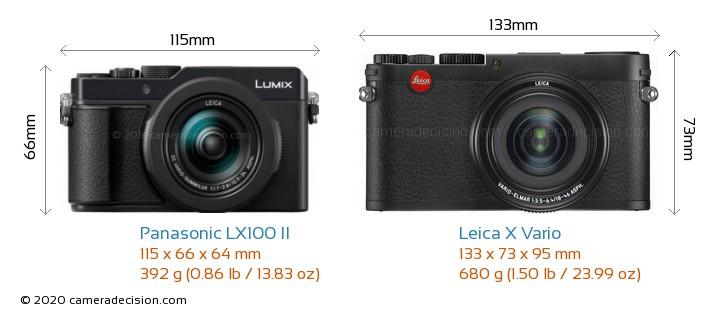 Panasonic LX100 II vs Leica X Vario Camera Size Comparison - Front View