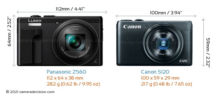 Panasonic Zs60 Vs Canon S120 Detailed Comparison