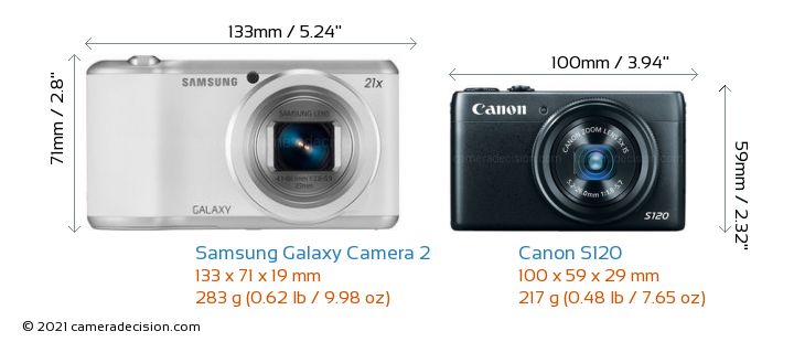 Samsung Galaxy Camera 2 vs Canon S120 Detailed Comparison