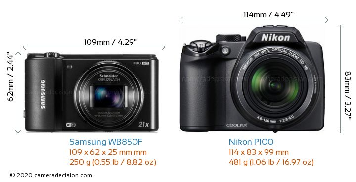 samsung wb850f vs nikon p100 detailed comparison