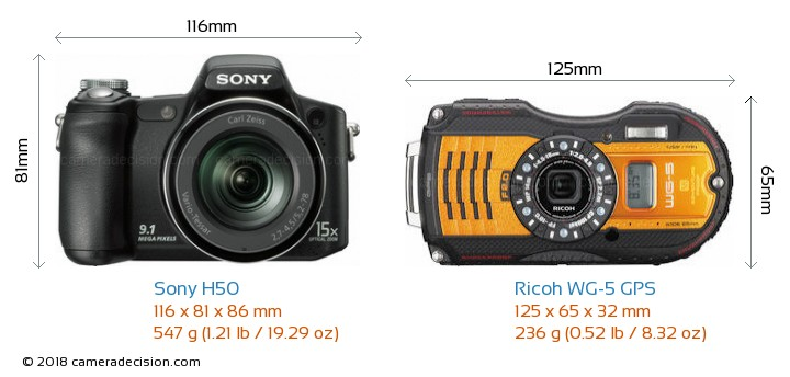 sony h50 vs ricoh wg 5 gps detailed comparison rh cameradecision com Sony H50 USB Cord Sony DSC H50 Review