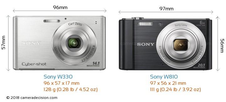 sony w330 vs sony w810 detailed comparison rh cameradecision com manual sony cyber shot dsc w330 portugues sony cyber shot dsc-w330 manual
