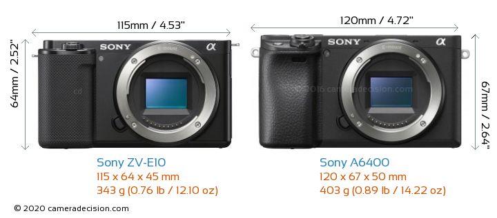Sony A6400 vs Sony ZV-E10
