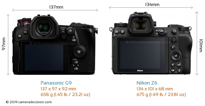 Panasonic G9 vs Nikon Z6 Detailed Comparison