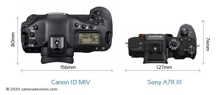 Canon 1D MIV vs Sony A7R III Detailed Comparison