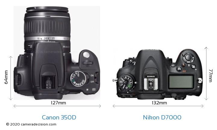 Canon 350D vs Nikon D7000 Detailed Comparison