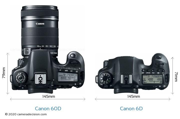 Canon 60D vs Canon 6D Detailed Comparison