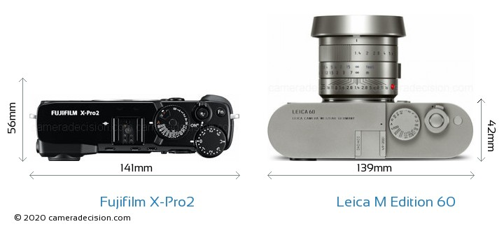 Fujifilm X Pro2 Vs Leica M Edition 60 Camera Size Comparison