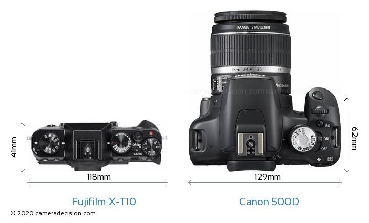 Fujifilm-X-T10-vs-Canon-EOS-500D-top-vie