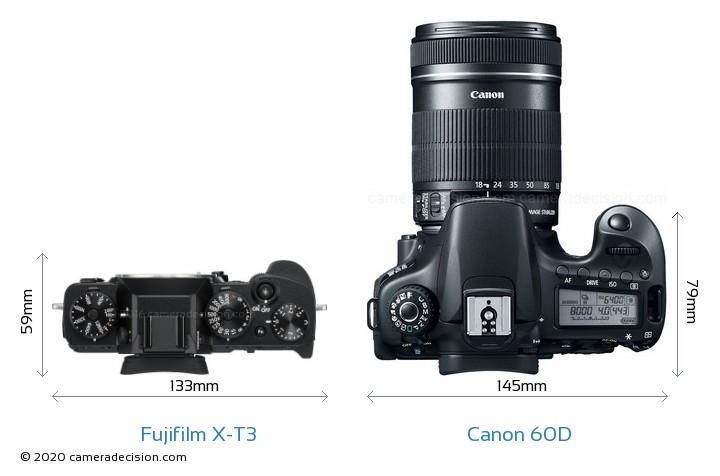 Fujifilm X-T3 vs Canon 60D Detailed Comparison