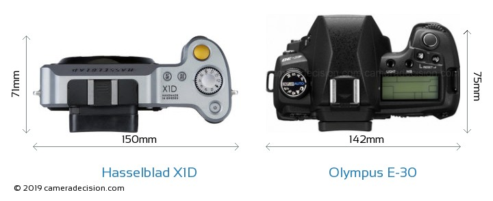 Hasselblad X1D vs Olympus E-30 Detailed Comparison