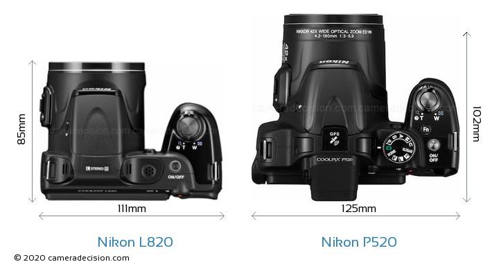 nikon l820 vs nikon p520 detailed comparison