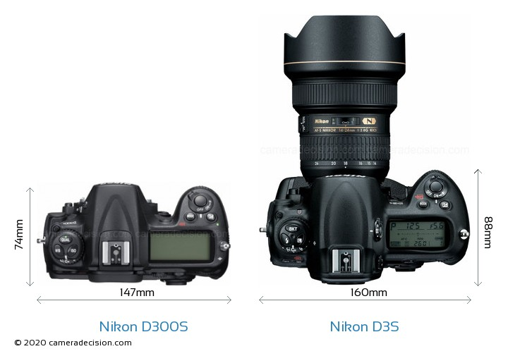 Nikon D300S vs Nikon D3S Detailed Comparison