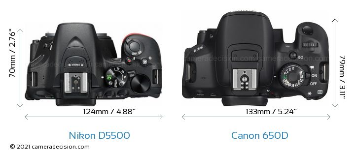 Nikon D5500 Vs Canon 650d Detailed Comparison