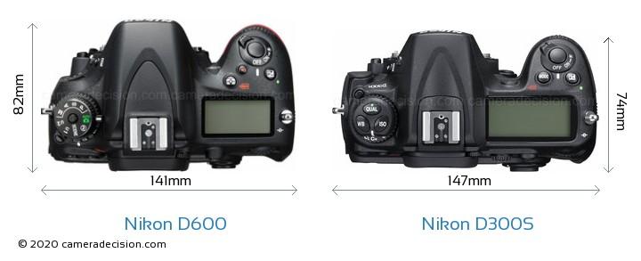 Nikon D600 vs Nikon D300S Detailed Comparison