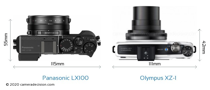 panasonic lx100 vs olympus xz 1 size comparison