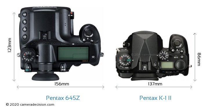 Pentax 645Z vs Pentax K-1 II Detailed Comparison