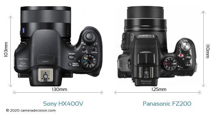 Sony HX400V vs Panasonic FZ200 Detailed Comparison