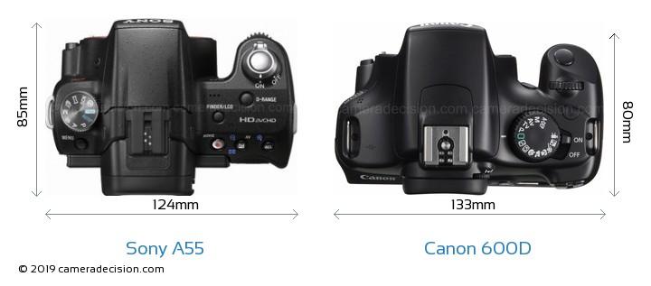 Sony SLT-A55 Vs Canon 600D